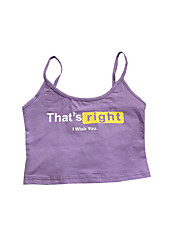 cheap -Women's Cotton Tank Top - Solid Colored