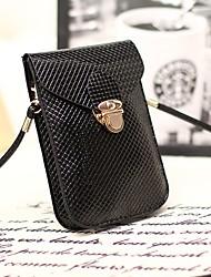 Недорогие -Жен. Мешки PU Мобильный телефон сумка Однотонные Черный / Темно-синий / Лиловый