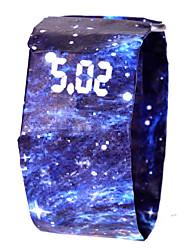 Недорогие -Муж. Жен. Спортивные часы электронные часы Цифровой 100 m Защита от влаги Секундомер Творчество Прочее Группа Цифровой Цветной минималист Черный / Белый / Синий -  / Один год / ЖК экран / SSUO 377