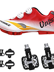 cheap -SIDEBIKE Adults' Cycling Shoes With Pedals & Cleats / Mountain Bike Shoes Nylon Cushioning Cycling Red Men's