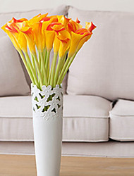 cheap -Artificial Flowers 3 Branch Classic / Single Stylish / Pastoral Style Calla Lily Tabletop Flower
