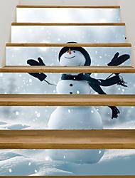 Недорогие -Декоративные наклейки на стены - 3D наклейки / Люди стены стикеры Пейзаж / Рождество Гостиная / Детская