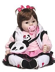 Недорогие -NPKCOLLECTION Куклы реборн Девочки 20 дюймовый как живой Подарок Искусственная имплантация Коричневые глаза Детские Девочки Игрушки Подарок