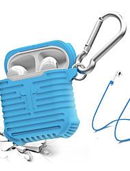 abordables -Funda para auriculares / Organizador de auriculares Silicona Azul Piscina / Negro / Gris 1 pcs