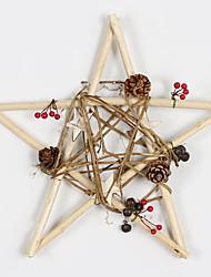 baratos -Enfeites de Natal Férias De madeira Quadrada de madeira Decoração de Natal