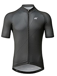 baratos -Mysenlan Homens Manga Curta Camisa para Ciclismo Moto Camisa / Roupas Para Esporte Poliéster / Zíper YKK
