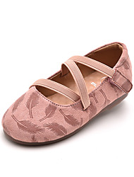 povoljno -Djevojčice Cipele Brušena koža Ljeto Udobne cipele Ravne cipele Mat selotejp za Djeca Crn / Pink
