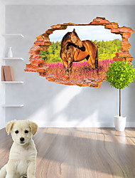 abordables -Calcomanías Decorativas de Pared - Calcomanías 3D para Pared / Pegatinas de pared de animales Animales Sala de estar / Dormitorio / Baño