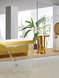 abordables -Robinet de baignoire - Marque-place debout Ti-PVD Baignoire et douche Soupape céramique