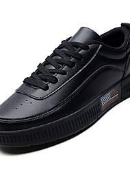 Недорогие -Муж. Комфортная обувь Полиуретан Осень На каждый день Кеды Водостойкий Белый / Черный / Красный