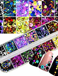 billiga -1 st. Förtjusande / Färgglad Kreativ nagel konst manikyr Pedikyr Blandat Material Punk / Docka Lolita Bröllopsfest / Dagliga kläder