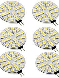 baratos -3w rodada g4 levou luzes bi-pin 24 leds smd 5050 iluminação doméstica branco quente branco frio 12-24 v (6 pcs)