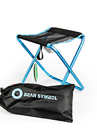 cheap -BEAR SYMBOL Camping Folding Chair Outdoor Lightweight, Breathability, Folding Synthetic Yarn, Nylon, Aluminium Alloy for Fishing / Hiking / Camping - 1 person Blue / Red