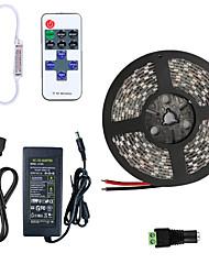 Недорогие -5 метров Гибкие светодиодные ленты 300 светодиоды 5050 SMD 1 пульт дистанционного управления Keys / 1 адаптер питания X 5A Тёплый белый / Холодный белый / Синий / 100-240