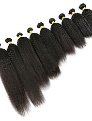 Недорогие -6 Связок Индийские волосы Вытянутые Необработанные / Натуральные волосы Подарки / Косплей Костюмы / Человека ткет Волосы 8-28 дюймовый Естественный цвет Ткет человеческих волос