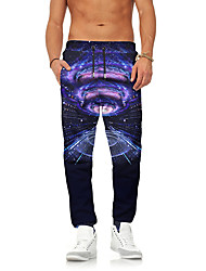 cheap -Men's Street chic / Exaggerated Chinos / Sweatpants Pants - Galaxy Print
