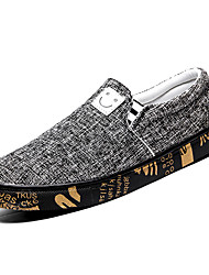 cheap -Men's Canvas / Linen Fall Comfort Loafers & Slip-Ons Color Block Black / Beige / Gray