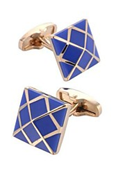 cheap -Cubic Blue Cufflinks Copper Fashion Men's Costume Jewelry For Daily / Office & Career