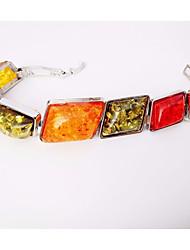 cheap -Women's Link / Chain Bracelet - Resin Creative Geometric, Bohemian, Ethnic Bracelet Silver For Street / Going out