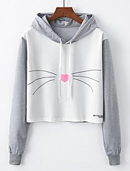 cheap -Women's Basic Hoodie - Solid Colored / Geometric