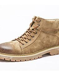 Недорогие -Муж. Армейские ботинки Свиная кожа Осень / Зима Ботинки Ботинки Черный / Серый / Коричневый