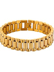 cheap -Men's Thick Chain Bracelet - Stainless Steel Weave Trendy, Fashion Bracelet Gold / Black / Silver For Gift / Daily