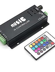 Недорогие -4а 3-канальный RGB LED смарт контроллер музыка ир с многофункциональным пультом дистанционного управления для RGB светодиодные ленты лампы (DC