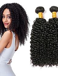 baratos -3 pacotes Cabelo Malaio Kinky Curly 8A Cabelo Humano Cabelo Humano Ondulado Cabelo Bundle Um Pacote de Solução 8-28 polegada Côr Natural Tramas de cabelo humano extensão Melhor qualidade Venda