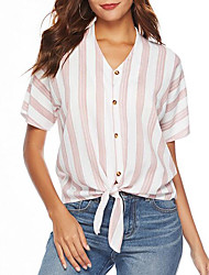 cheap -Women's Going out Blouse - Striped Deep V