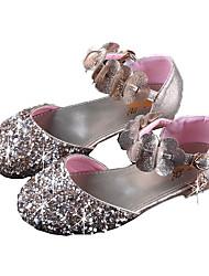 abordables -Fille Chaussures Polyuréthane Printemps & Automne De minuscules talons pour les ados Sandales Paillette pour Enfants Or / Argent / Rose