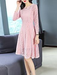 cheap -FRMZ Women's Elegant A Line Dress Lace / Patchwork
