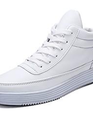 billige -Herre PU Efterår Komfort Sneakers Hvid / Sort