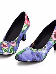 Недорогие -Жен. Обувь для модерна Сатин На каблуках Тонкий высокий каблук Танцевальная обувь Лиловый