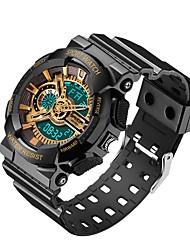 Недорогие -SANDA Муж. Спортивные часы электронные часы Японский Цифровой Черный / Белый / Небесно-голубой 30 m Защита от влаги Календарь Хронометр Аналого-цифровые Роскошь Мода -  / Фосфоресцирующий