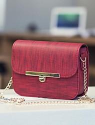 baratos -Mulheres Bolsas PU Telefone Móvel Bag Botões Preto / Vermelho / Khaki