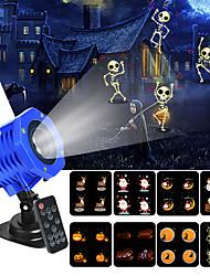 Недорогие -2019 новый рождественский проектор свет 8 слайдов водонепроницаемый ip65 пейзаж фильм кинопроектор огни с дистанционным управлением на рождество хэллоуин