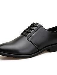 Недорогие -Муж. Официальная обувь Свиная кожа Осень Туфли на шнуровке Черный