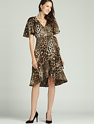 cheap -Suzanne Betro Women's Street chic / Elegant Sheath / Swing / Trumpet / Mermaid Dress - Leopard