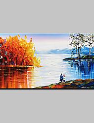 Недорогие -mintura® ручная роспись пейзажа пейзаж маслом на холсте современная абстрактная настенная живопись картина для домашнего украшения, готовая повесить