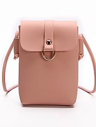 baratos -Mulheres Bolsas PU Telefone Móvel Bag Cor Única Vermelho / Rosa / Cinzento