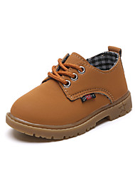 cheap -Boys' Shoes Nappa Leather Fall & Winter Comfort Oxfords Walking Shoes Lace-up for Kids Black / Light Brown / Dark Brown