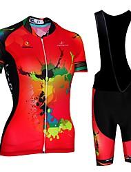 Недорогие -Malciklo Велокофты и велошорты-комбинезоны - Красный / Белый / Черный / красный Велоспорт Быстровысыхающий, Анатомический дизайн