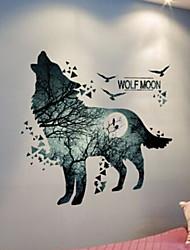 Недорогие -Декоративные наклейки на стены - Наклейки для животных Животные / 3D Спальня / В помещении