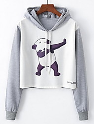 cheap -Women's Basic Hoodie - Solid Colored / Cartoon
