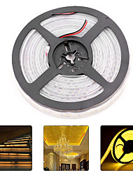 cheap -HKV 5m Flexible LED Light Strips 1200 LEDs 3528 SMD Warm White / Cold White Waterproof / New Design 12 V