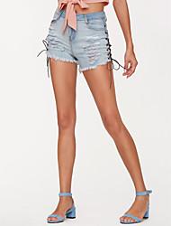 economico -Per donna Attivo Pantaloncini Pantaloni - Tinta unita Blu e bianco