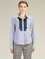 cheap -Suzanne Betro Women's Business / Basic Shirt - Striped Patchwork