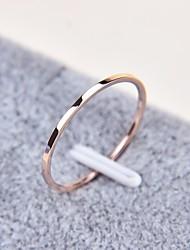 billige -Par Klassisk / Stilfuldt Ring - Titanium Stål Simple, Basale, Mode 5 / 6 / 7 Rose Guld Til Daglig / Skole
