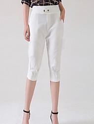 billige -Dame Basale Chinos / Shorts Bukser Ensfarvet