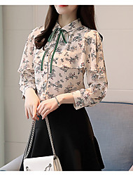 cheap -women's going out blouse - floral shirt collar